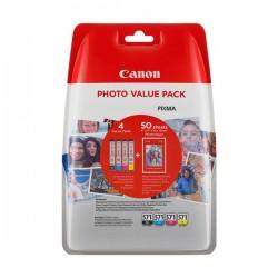 Canon multipack inkoustových náplní CLI-571-C+M+Y+BK / 50x  fotopapír PP-201