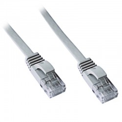 DATACOM Patch kabel UTP CAT6 1m plochý šedý