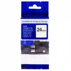 PRINTLINE kompatibilní páska s Brother TZE-SE5R, 24mm, černý tisk/červený podklad, plomb.