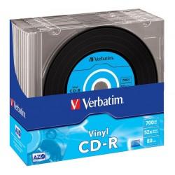 VERBATIM CD-R80 700MB DL Plus/ 52x/ 80min/ Vinyl/ slim/ 10pack