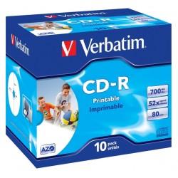 VERBATIM CD-R80 700MB DLP/ 52x/ printable/ jewel/ 10pack