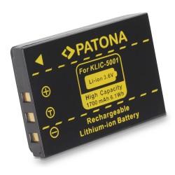PATONA baterie pro foto Kodak KLIC 5001 1700mAh