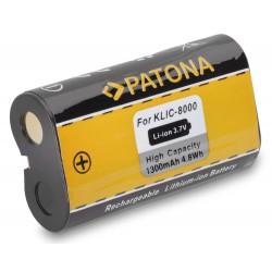 PATONA baterie pro foto Kodak KLIC-8000 1300mAh
