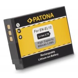 PATONA baterie pro foto Nikon EN-EL12 800mAh