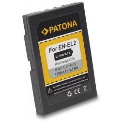 PATONA baterie pro foto Nikon EN-EL2 1000mAh