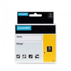 PRINTLINE kompatibilní páska s DYMO 18445, 19mm, 5.5m, černý tisk/bílý podklad, RHINO, vinylová