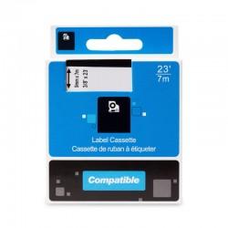 PRINTLINE kompatibilní páska s DYMO 40915, S0720700, 9mm, 7m, červený tisk/bílý podklad, D1