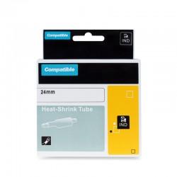 PRINTLINE kompatibilní páska s DYMO 1805444, 24mm, 1.5m, černý tisk/žlutý podklad, RHINO, bužírka