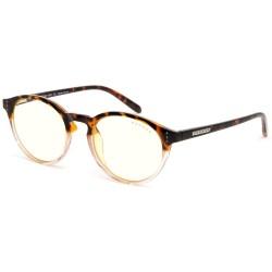 GUNNAR kancelářské brýle ATTACHÉ TORTOISE-ROSE/ jantarové obroučky/ čirá skla