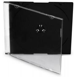 COVER IT box jewel + tray/ plastový obal na CD/ slim/ 5,2mm/ černý