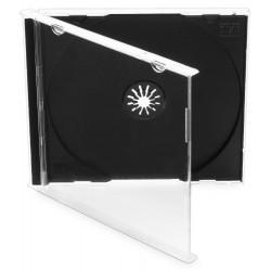 COVER IT box jewel + tray/ plastový obal na CD/ 10,4mm/ černý