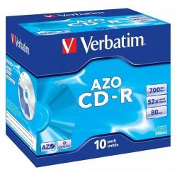 VERBATIM CD-R80 700MB DLP/ 52x/ 80min/ jewel/ 10pack