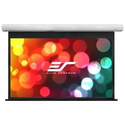 """ELITE SCREENS plátno elektrické motorové 165"""" (419,1 cm)/ 16:9/ 206 x 366 cm/ case bílý/ 6"""" drop/ Fiber Glass"""
