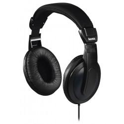 HAMA sluchátka Basic4TV/ drátová/ uzavřená/ k TV/ 3,5 mm/6,35 jack/ citlivost 113 dB/mW/ černá