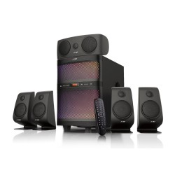 FENDA F&D repro F5060X/ 5.1/ 135W/ černé/ BT4.0/ FM rádio/ USB/SD přehrávání/ dálkové ovládání