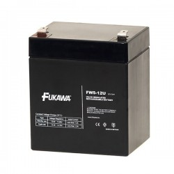 FUKAWA olověná baterie FW 5-12 U do UPS APC/ AEG/ EATON/ Powerware/ 12V/ 5Ah/ životnost 5 let/ Faston F2-6,3mm
