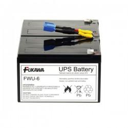 FUKAWA olověná baterie FWU-6 do UPS APC/ náhradní baterie za RBC6/ 24V/ 12Ah/ životnost 5 let