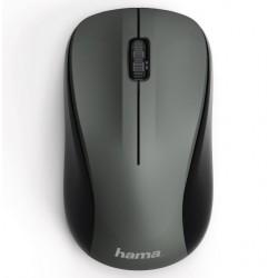HAMA myš MW-300/ bezdrátová/ optická/ tichá/ 1200 dpi/ 3 tlačítka/ USB/ antracitová
