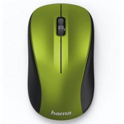 HAMA myš MW-300/ bezdrátová/ optická/ tichá/ 1200 dpi/ 3 tlačítka/ USB/ citrónově žlutá