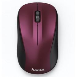 HAMA myš MW-300/ bezdrátová/ optická/ tichá/ 1200 dpi/ 3 tlačítka/ USB/ bordó-růžová