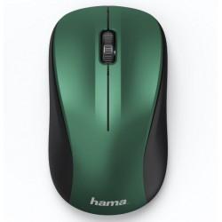 HAMA myš MW-300/ bezdrátová/ optická/ tichá/ 1200 dpi/ 3 tlačítka/ USB/ modro-zelená