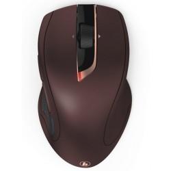 HAMA myš MW-900/ bezdrátová/ laserová/ auto DPI 800-2400/ 7 tlačítek/ USB/ bordó