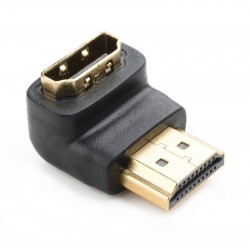 NEDIS adaptér HDMI úhlový 90°/ HDMI konektor - HDMI zásuvka/ černá