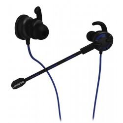HAMA uRage gamingový headset in-ear ChatZ/ drátová sluchátka + mikrofon/ 3,5 mm jack/ citlivost 100 dB/mW/ černo-modrý