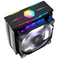 Zalman chladič CPU CNPS10X OPTIMA II BLACK / 120mm RGB ventilátor / heatpipe / PWM / výška 160mm / pro AMD i Intel