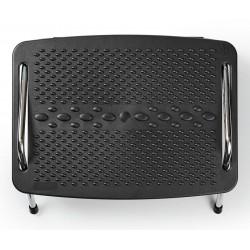 NEDIS ergonomická podnožka/ kovová/ černá