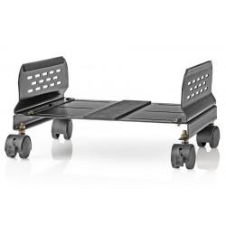 NEDIS ergonomický stojan na PC/ nastavitelná šířka/ 4 uzamykatelná kolečka/ černý