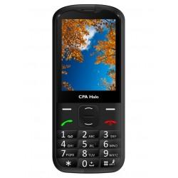 "CPA HALO 18 černý   nabíjecí stojánek/ pro seniory/ 2,8"" barevný display/ FM rádio"