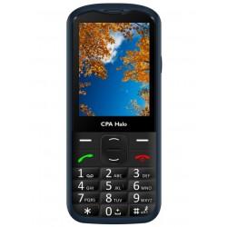 """CPA HALO 18 modrý   nabíjecí stojánek/ pro seniory/ 2,8"""" barevný display/ FM rádio"""
