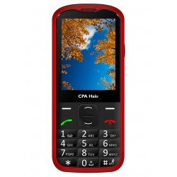 """CPA HALO 18 červený   nabíjecí stojánek/ pro seniory/ 2,8"""" barevný display/ FM rádio"""
