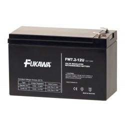 FUKAWA olověná baterie FW 7,2-12 F2U do UPS APC/ AEG/ EATON/ Powerware/ 12V/ 7,2 Ah/ životnost 5 let/ Faston F2-6,3mm