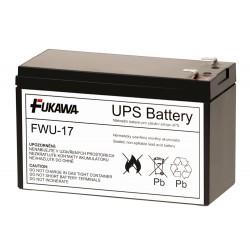 FUKAWA olověná baterie FWU-17 do UPS APC/ náhradní baterie za RBC17/ 12V/ 9Ah/ životnost 5 let