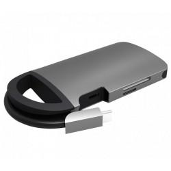 UMAX dokovací stanice U-Connect Type-C Multiport H8/ HDMI max 4K/ 3x USB 3.0/ LAN/ SD + micro SD