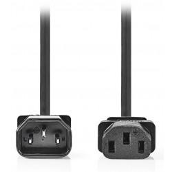 NEDIS napájecí prodlužovací kabel/ konektor IEC-320-C14/ konektor IEC-320-C13/ černý/ 2m