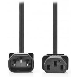 NEDIS napájecí prodlužovací kabel/ konektor IEC-320-C14/ konektor IEC-320-C13/ černý/ 5m