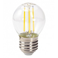TESLA LED žárovka FILAMENT RETRO miniglobe/ E27/ 4W/ 230V/ 470lm/ 4000K/ denní bílá