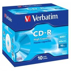 VERBATIM CD-R90 800MB EP/DL/ 40x/ 90min/ jewel/ 10pack