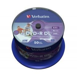 VERBATIM DVD+R DoubleLayer 8,5GB/ 8x/ printable/ 50pack/ spindle