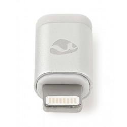 NEDIS synchronizační a nabíjecí adaptér/ 8pinová Lightning zástrčka na USB 2.0 Micro B zásuvku