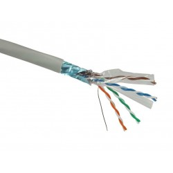 Solarix Kabel FTP drát c6 500m PVC