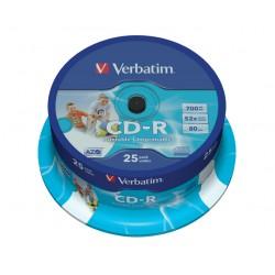 VERBATIM CD-R80 700MB/ 52x/ printable/ 25pack/ spindle