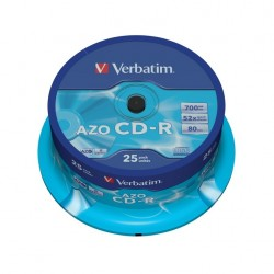 VERBATIM CD-R80 700MB/ 52x/ AZO/ 25pack/ spindle