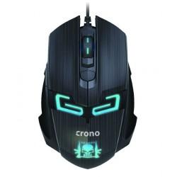 CRONO myš CM647/ gaming/ optická/ drátová/ 1600 dpi/ modré LED podsvícení/ 6 tlačítek/ USB/ černá