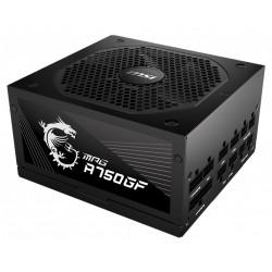 MSI zdroj MPG A750GF/ 750W/ ATX/ akt. PFC/ 140mm ventilátor/ modulární kabeláž/ 80PLUS Gold