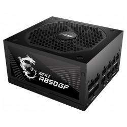 MSI zdroj MPG A850GF/ 850W/ ATX/ akt. PFC/ 140mm ventilátor/ modulární kabeláž/ 80PLUS Gold