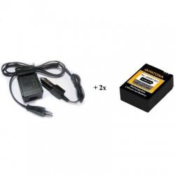PATONA sada pro digitální kameru GoPro 3 AHDBT-201 nabíječka + 2x baterie 1180mAh